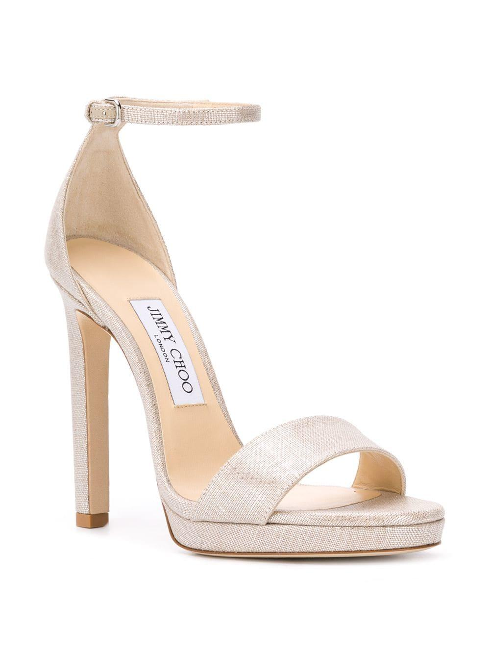 037987d0c08 Jimmy Choo Misty 120 Sandals in Metallic - Lyst