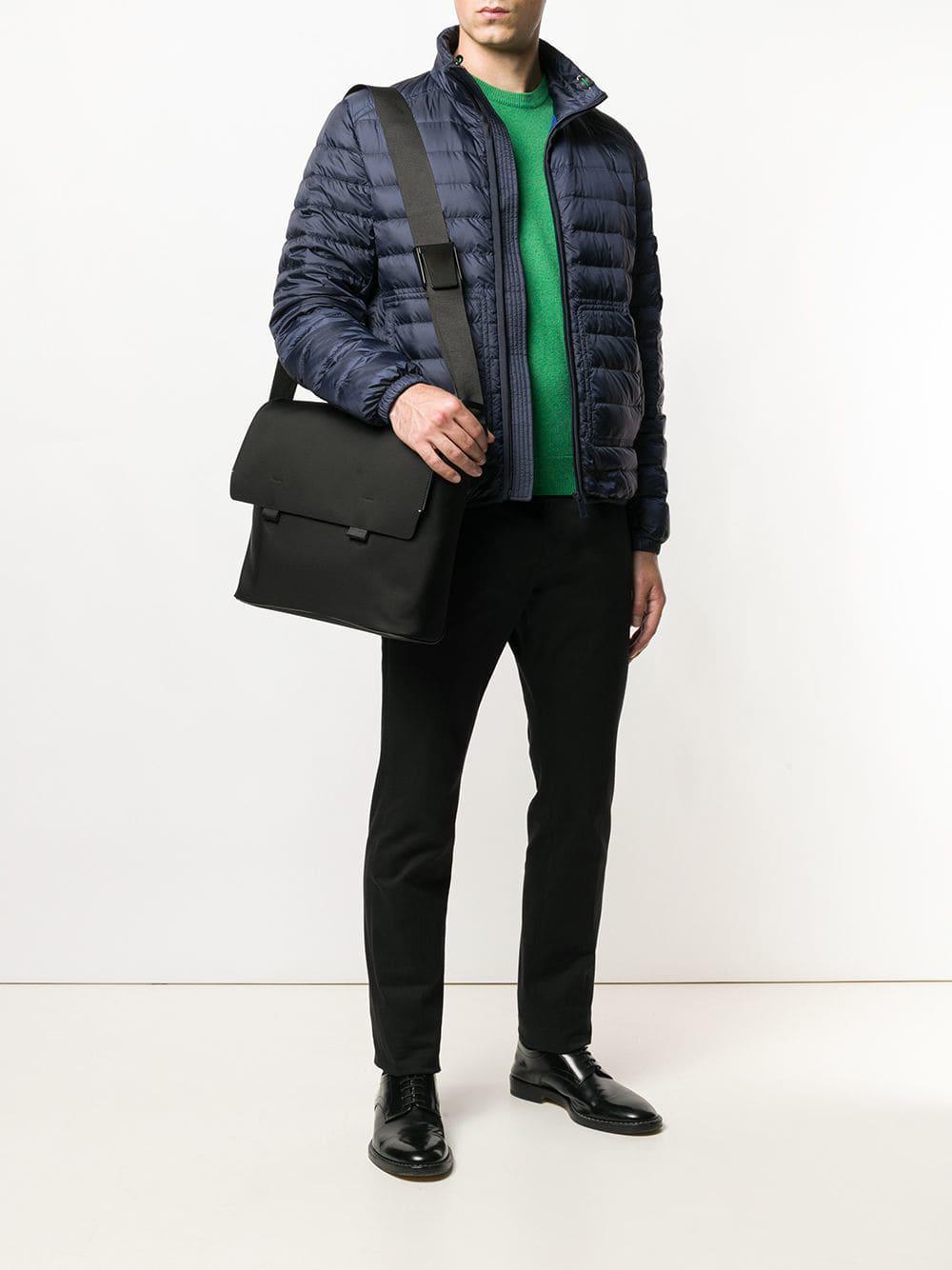 2e0487b7fdd24 Lyst - Troubadour Foldover Top Messenger Bag in Black for Men
