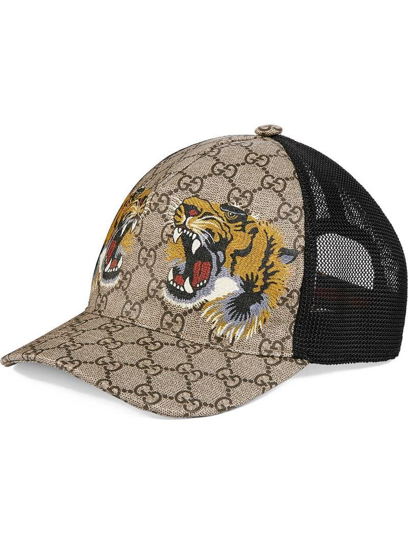 b202be52183 Gucci Tigers Print GG Supreme Baseball Hat for Men - Save 7% - Lyst