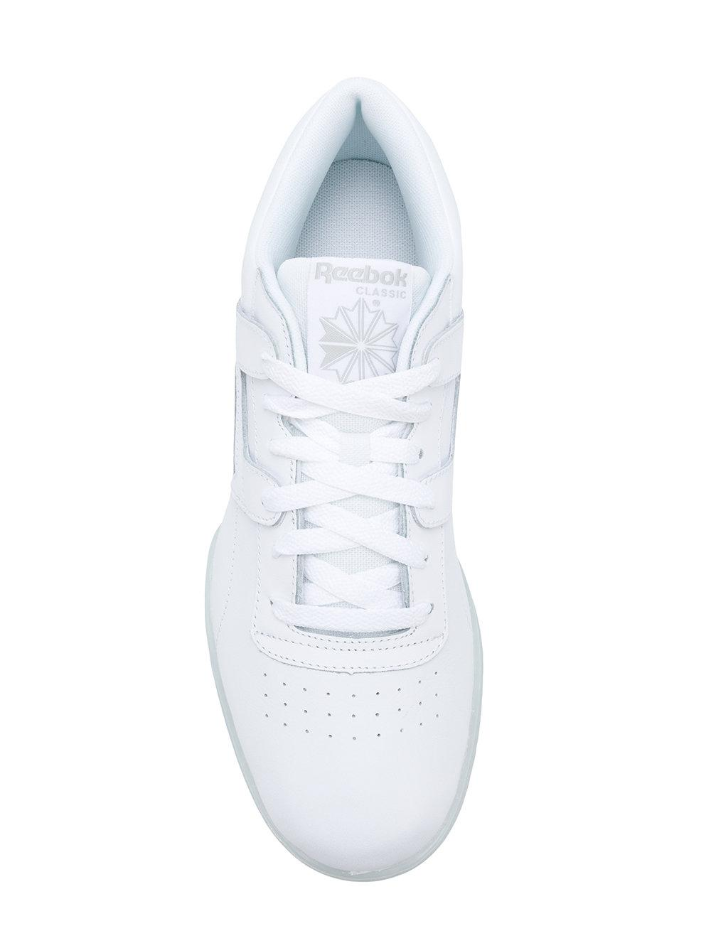 62e3e4877d6 Reebok - White Workout Clean Ripple Sneakers for Men - Lyst. View fullscreen