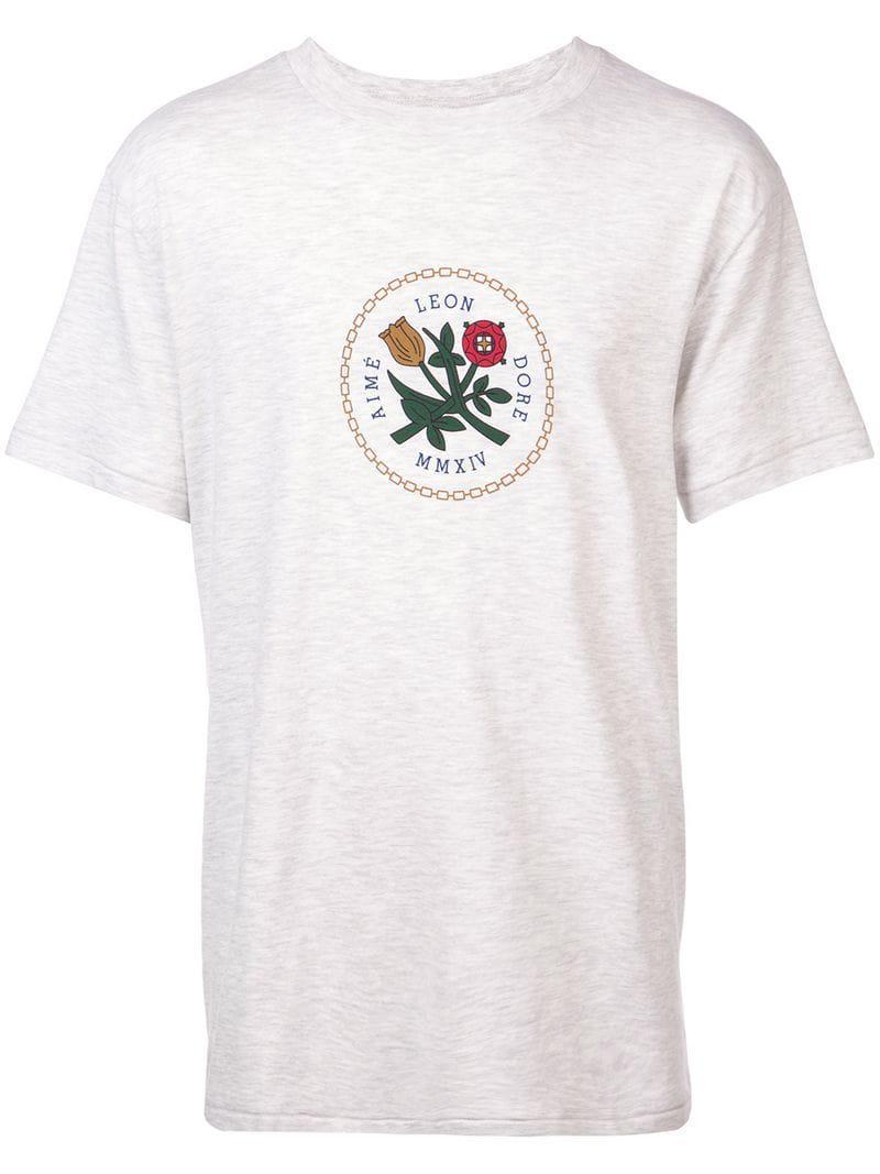 6883e49767 Aimé Leon Dore Home Crest T-shirt in Gray for Men - Lyst
