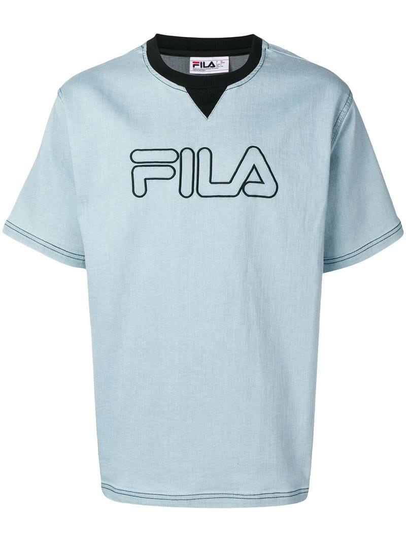 a2e65435f7e Fila - Blue Logo T-shirt for Men - Lyst. View fullscreen