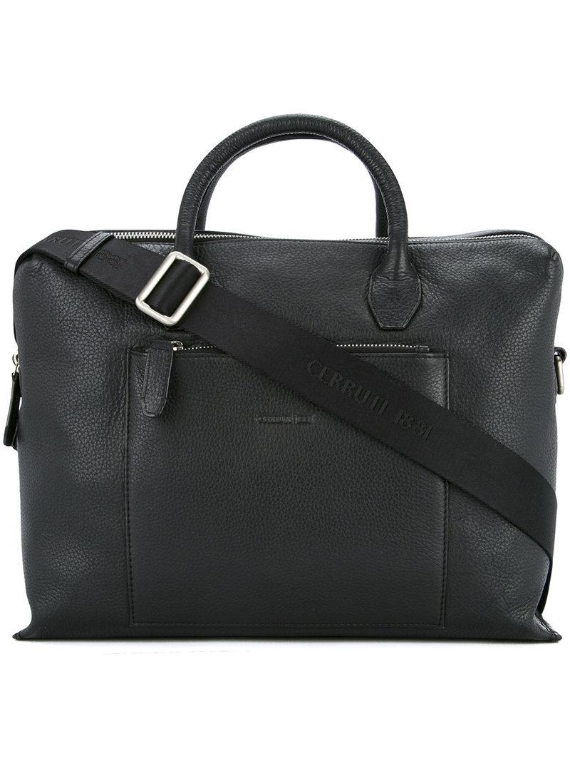 Cerruti 1881 Double Zip Laptop Bag In Black For Men Lyst
