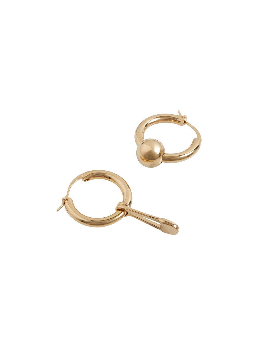 Burberry Kilt Pin earrings - Metallic mYNLvEkJo