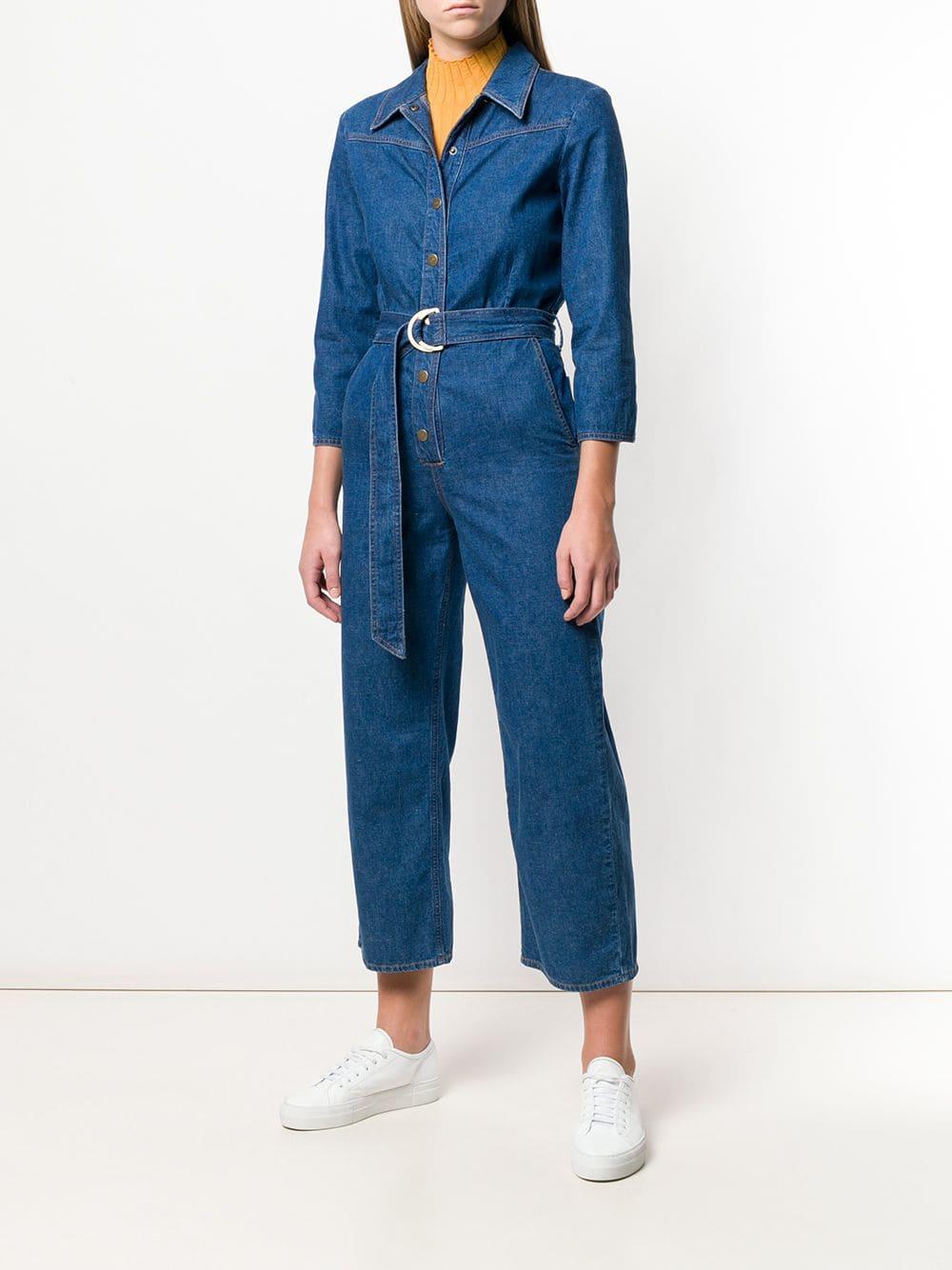 8aa3270ac33 Lyst - M.i.h Jeans Harper Denim Jumpsuit in Blue