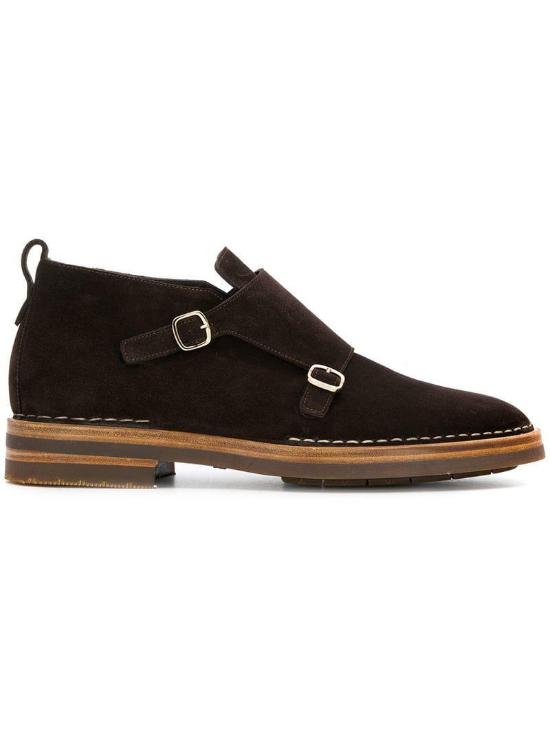 36d7150430d Santoni Buckle Loafers in Brown for Men - Lyst