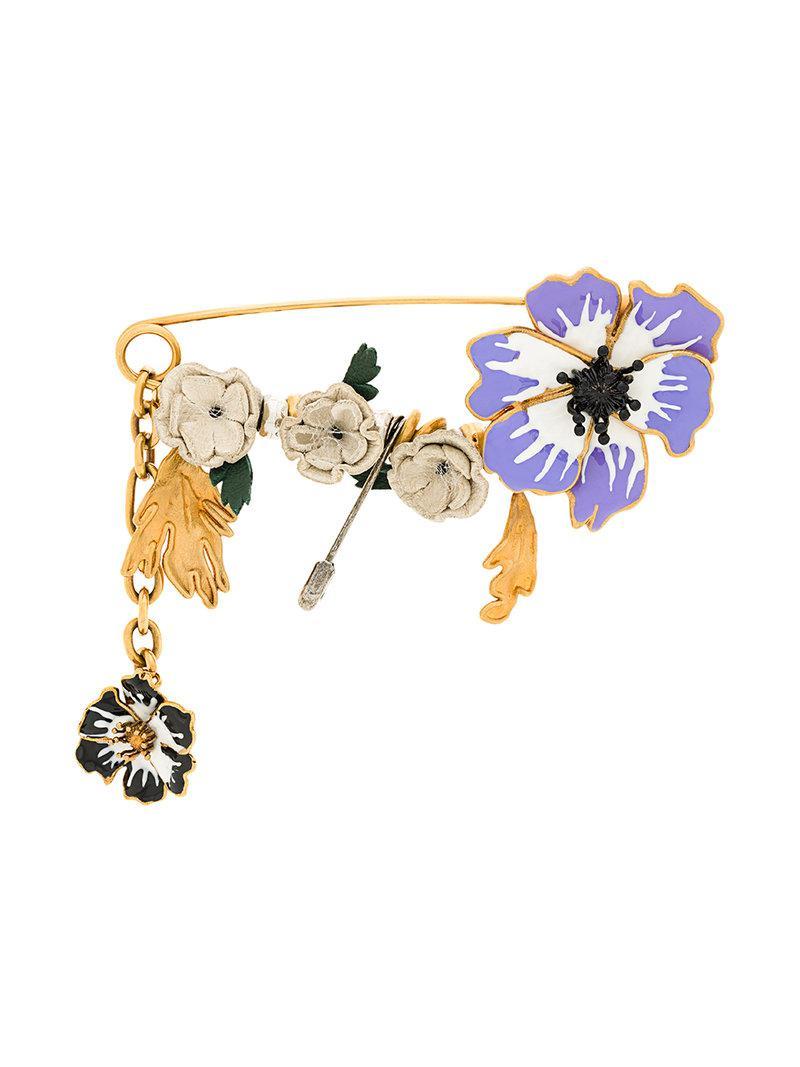 Sonia Rykiel embellished anemone pin - Metallic tHGcPS