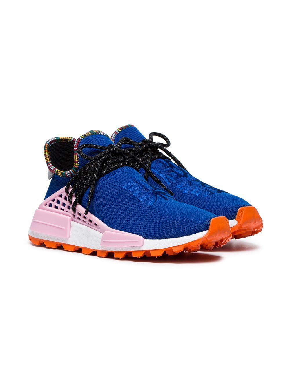 c68b3e796 ... Pharrell Williams Blue Human Body Nmd Sneakers for Men - Lyst. View  fullscreen
