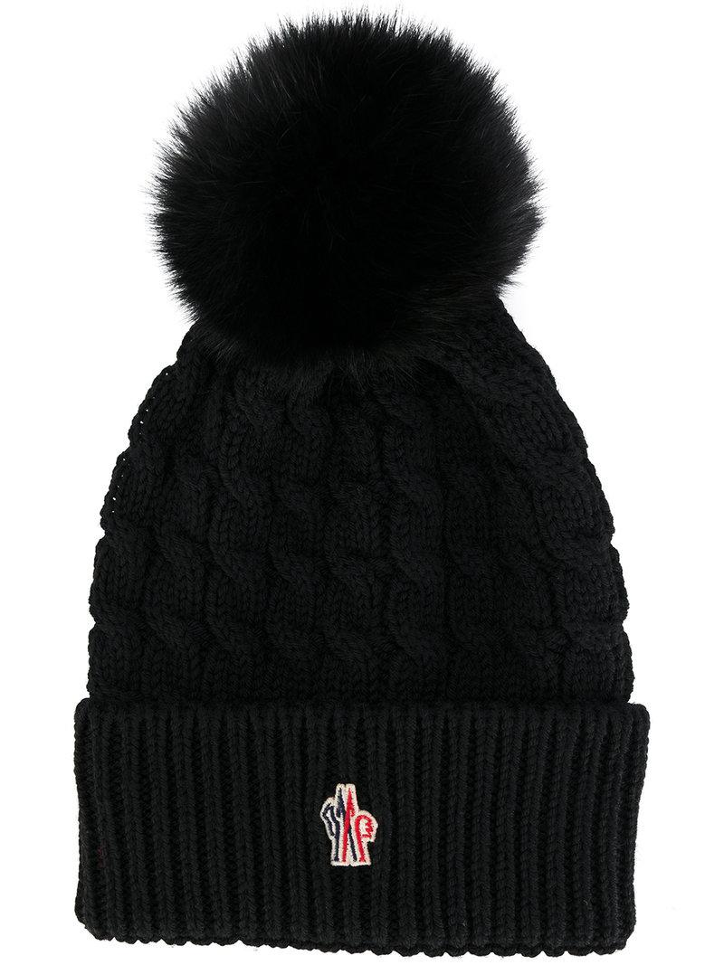 fc9dda5eb35 Moncler Grenoble Wool Hat With Bow in Black - Save ...
