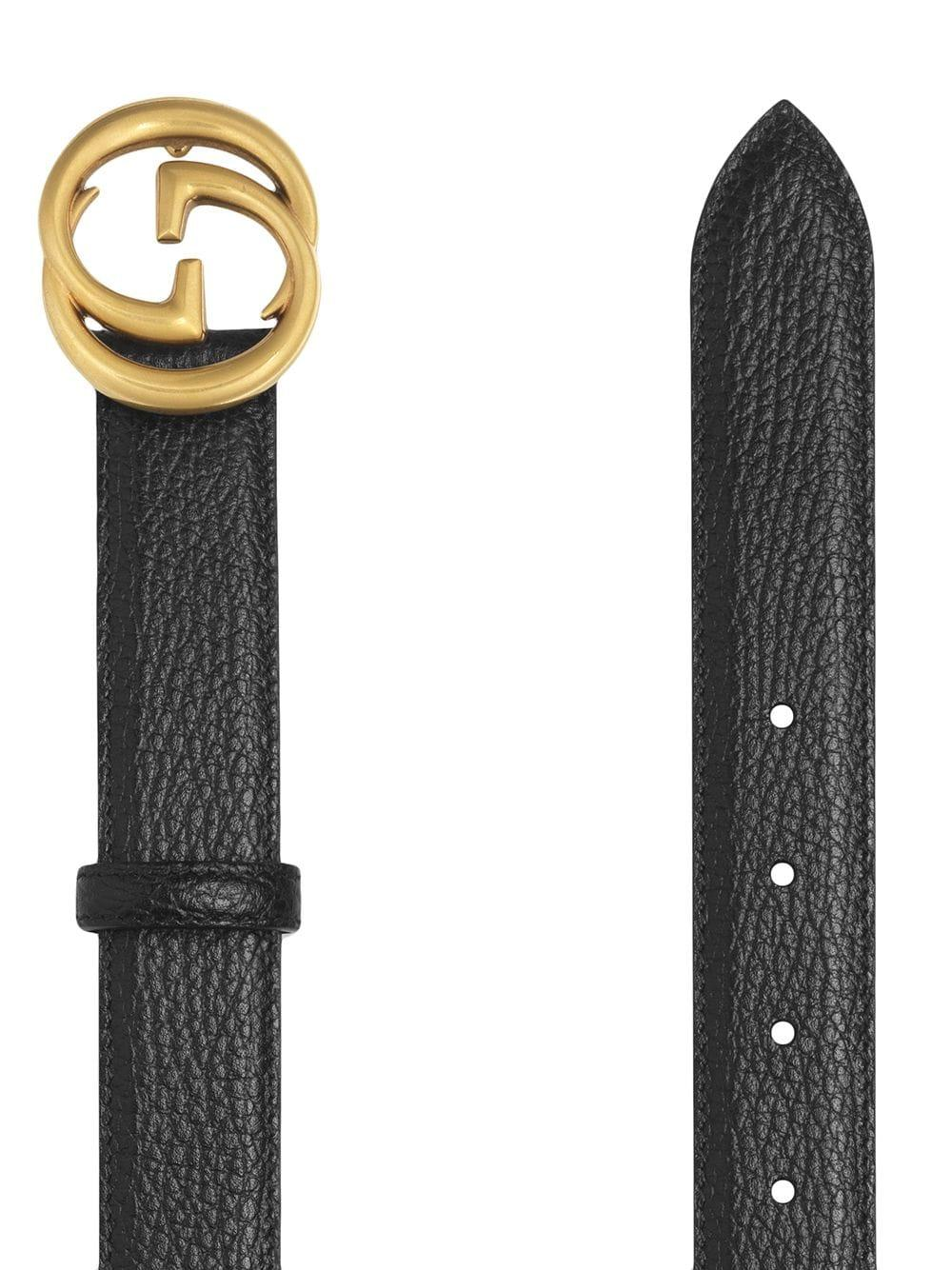 c0e9903738af4 Lyst - Gucci Leather Belt With Interlocking G Buckle in Black for Men -  Save 22%