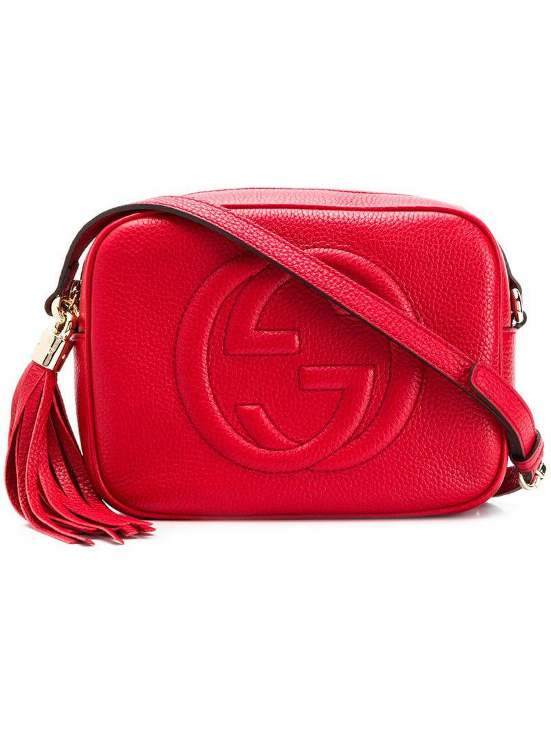 6cc839d61ded Lyst - Gucci Soho Shoulder Bag in Red