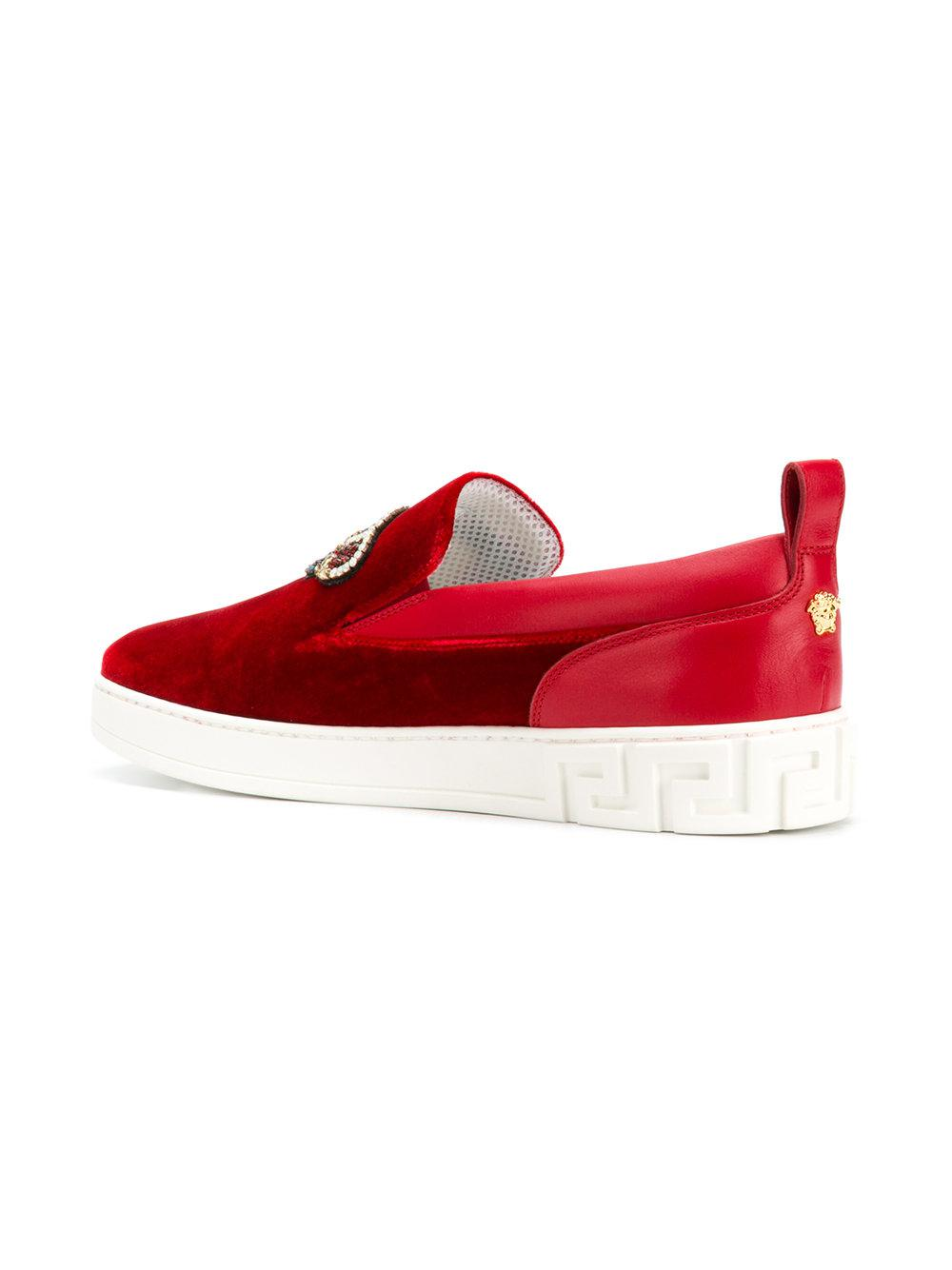 VERSACE Beaded crown sneakers ba2zG