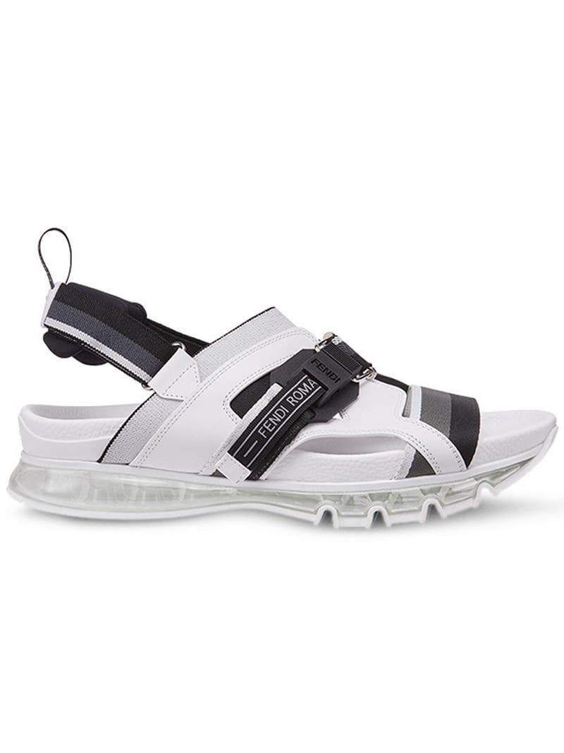 33daa654649bc4 Fendi - White Tpu Sandals for Men - Lyst. View fullscreen