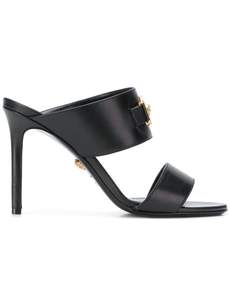 bf9f0840898 Versace Medusa Open-toe Sandals in Black - Lyst