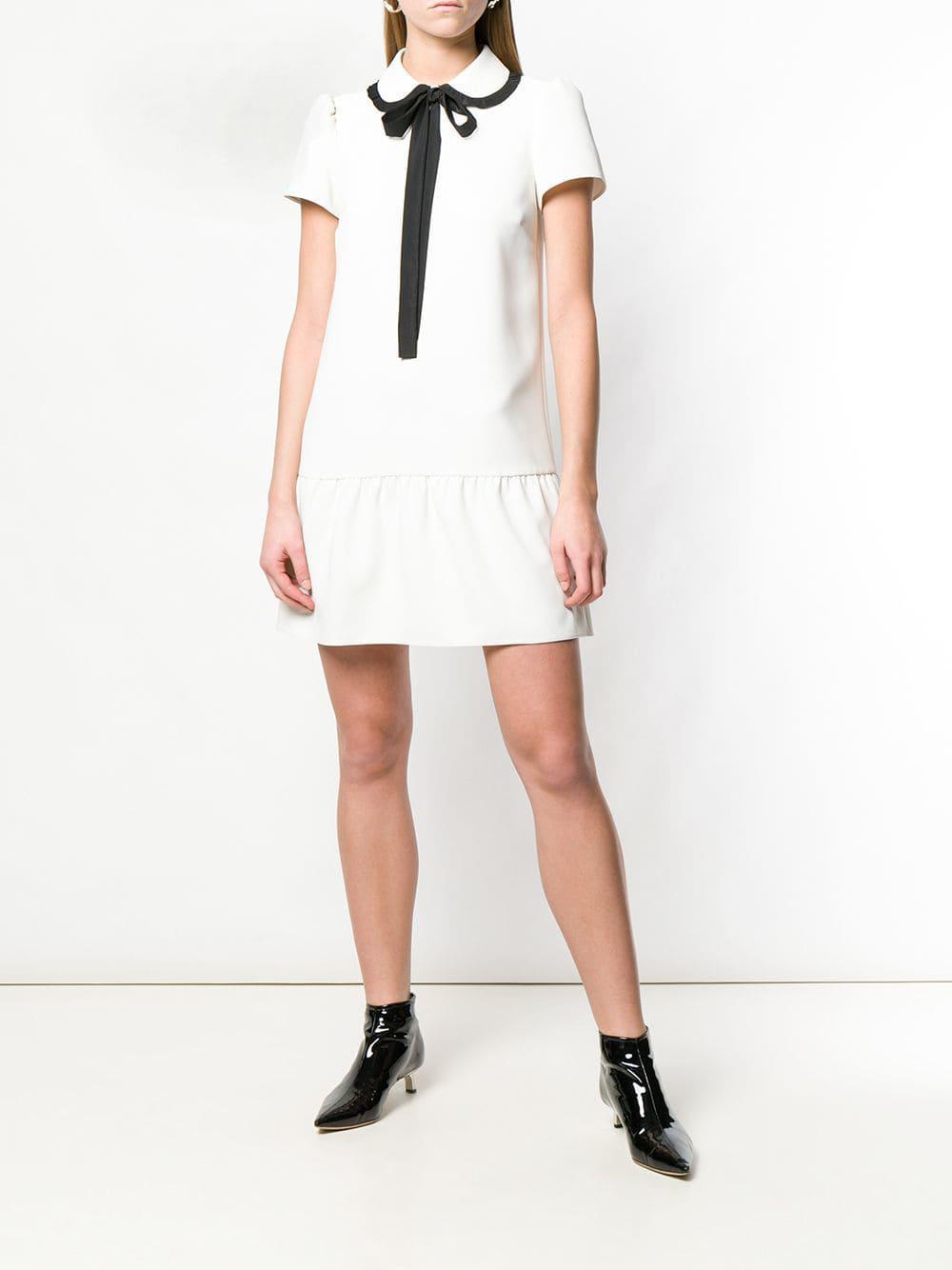694d625aa769 RED Valentino - White Techno Fluid Shirt Dress - Lyst. View fullscreen