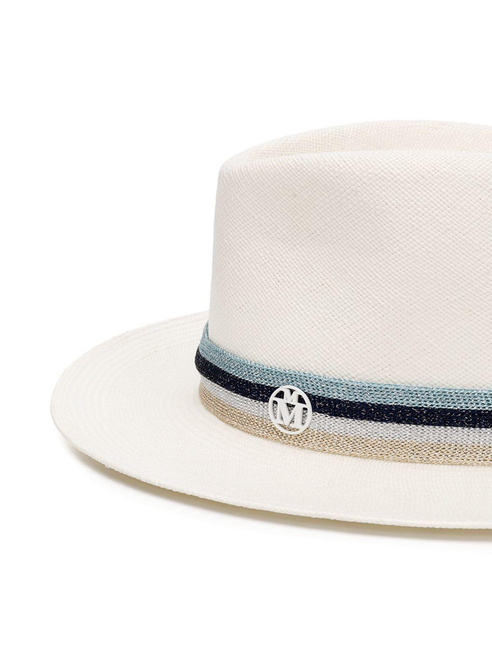 924f016ae Lyst - Maison Michel Andre Fedora Hat in White - Save 28%