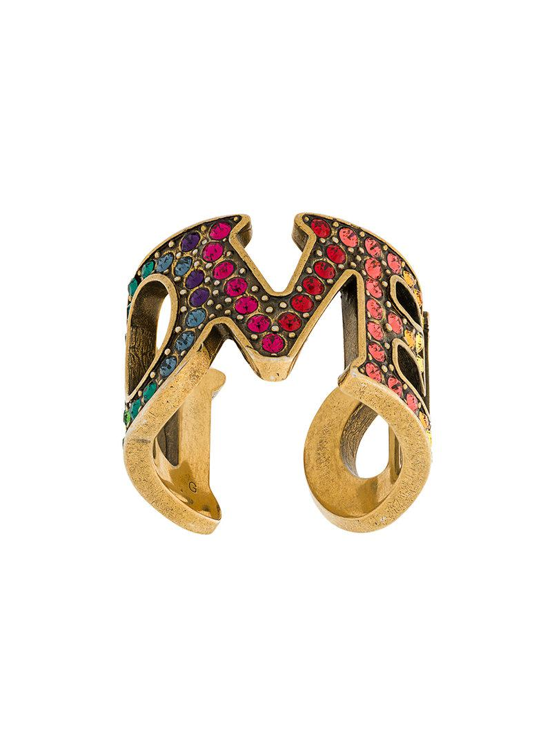 Gucci embellished Loved ring - Metallic DM9xS6yV