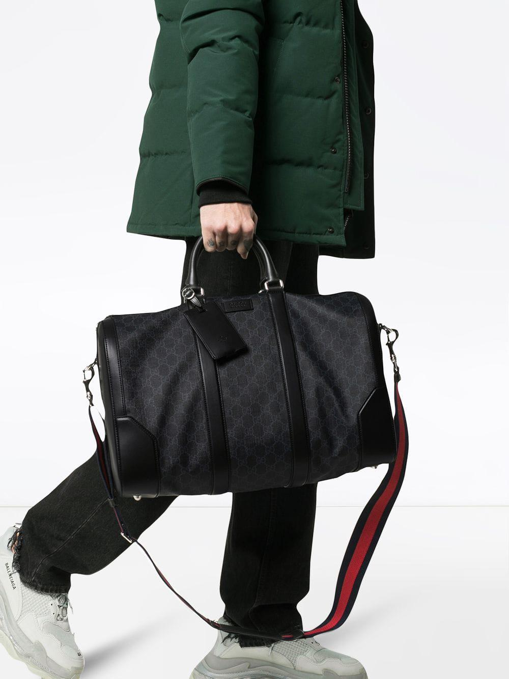 81a40f9f58b076 Gucci Soft GG Supreme Carry-on Duffle in Black for Men - Save 10% - Lyst