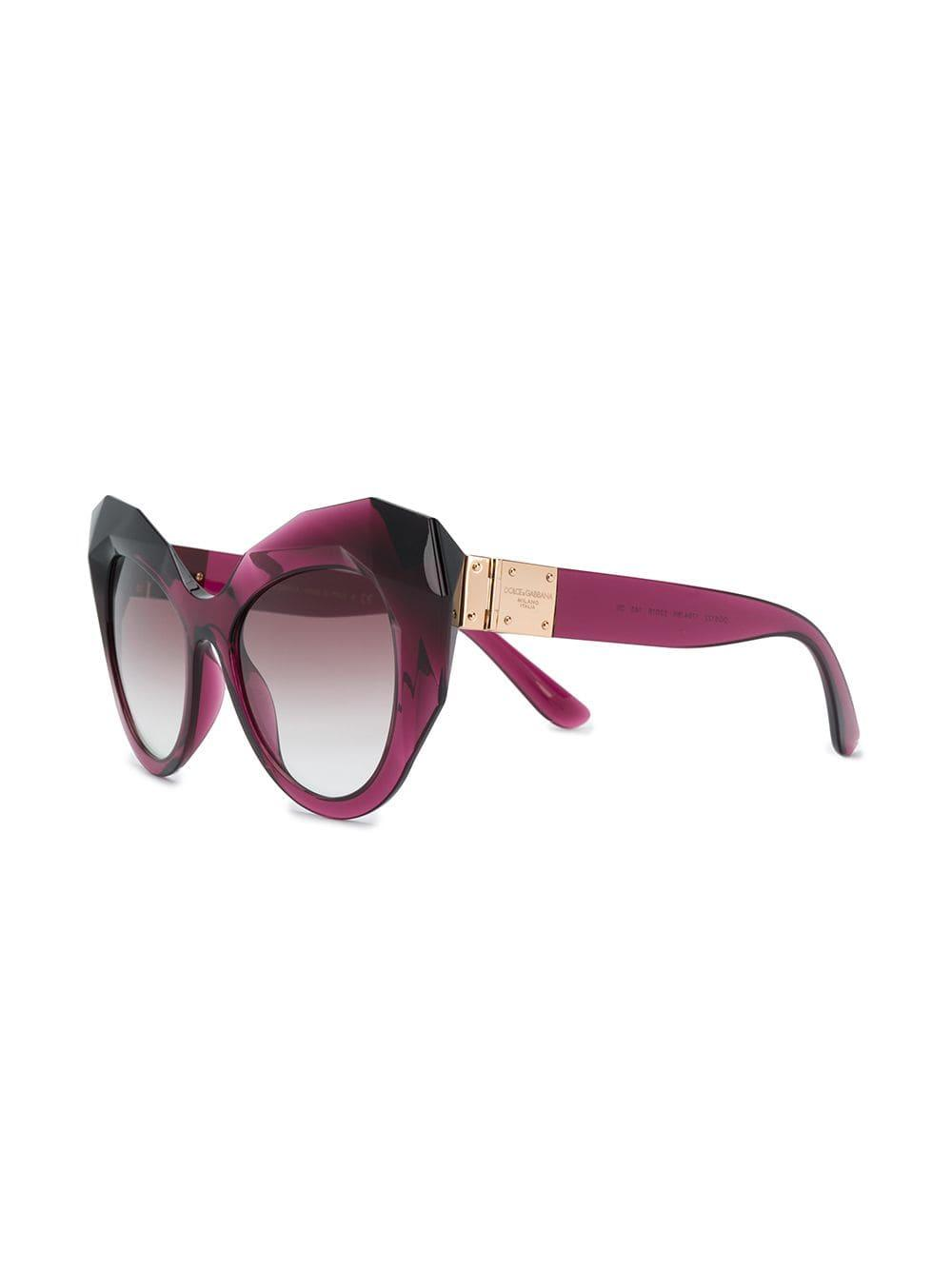 6e27867f0236 Lyst - Dolce   Gabbana Oversized Cat Eye Sunglasses in Pink