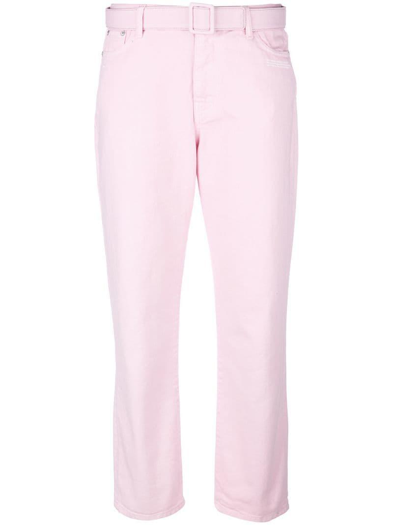 05b79167b761 Lyst - Off-White c o Virgil Abloh Skinny Jeans in Pink