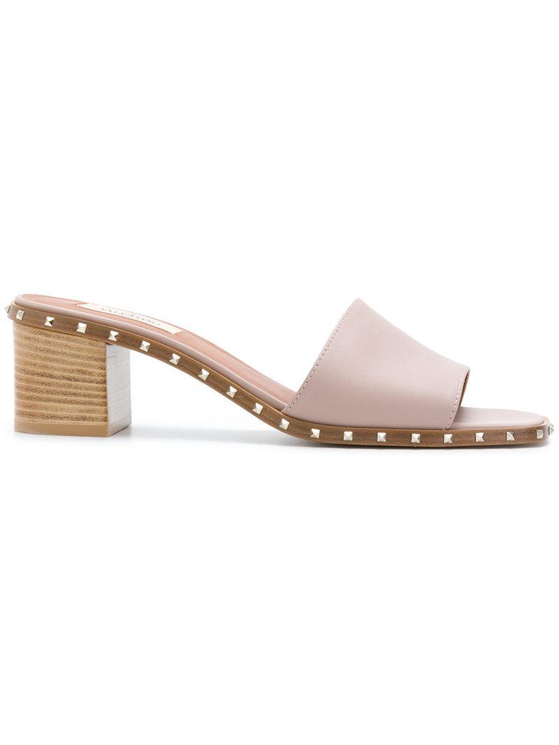 Marsèll Pink Valentino Garavani Flat Rockstud Mules GvAqc