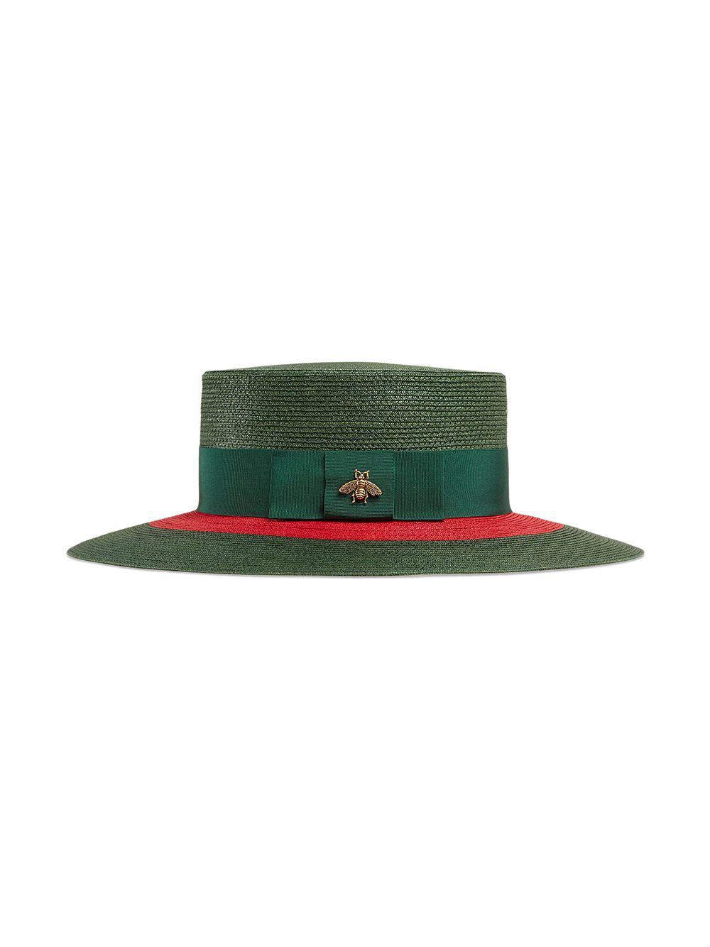 50044ad557e04 Lyst - Gucci Papier Wide Brim Hat in Green for Men