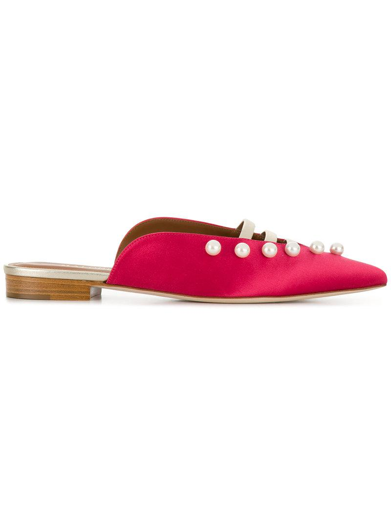 Malone Mules Plates Souliers Zelda - Rouge GbH1Lt1Pg9