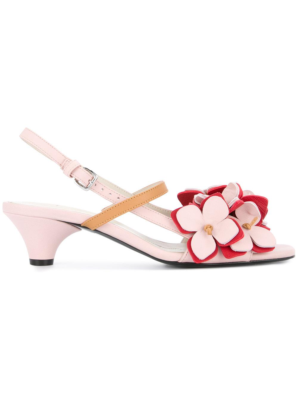 2a9fbb7d4 Lyst - Marni Floral Slingback Pumps in Pink
