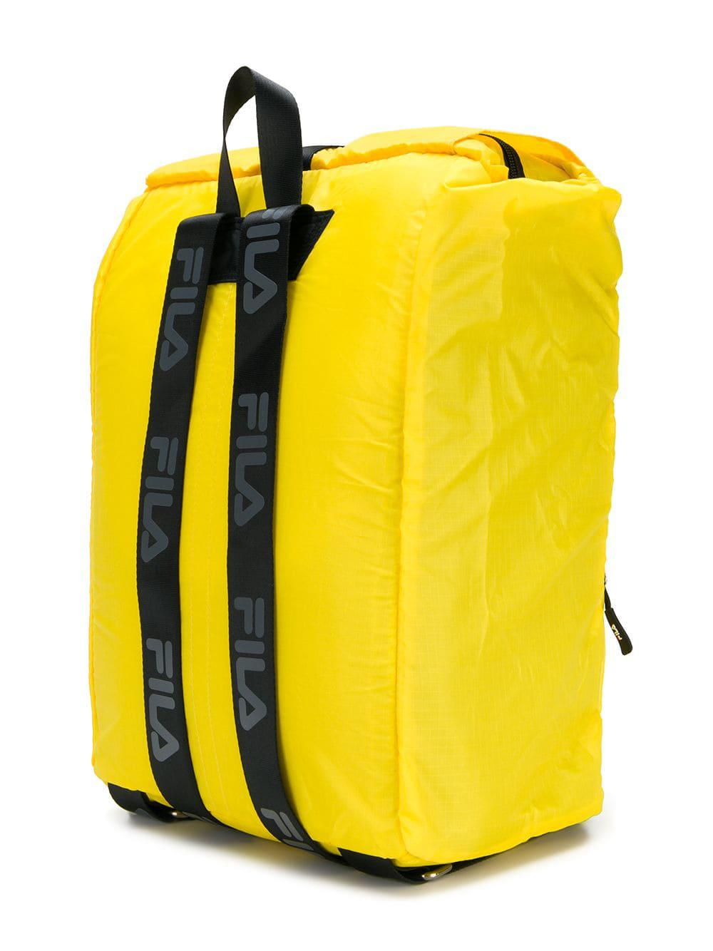 Lyst - Fila Logo Buckled Backpack in Yellow