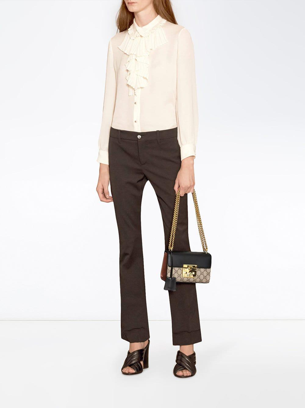 5251ef5a79f6 Gucci Padlock GG Supreme Shoulder Bag in Black - Save 6% - Lyst