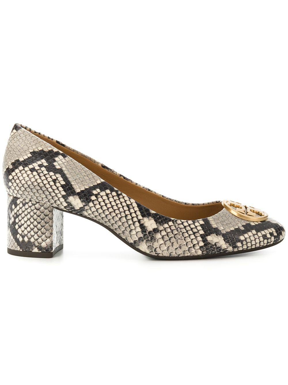 ac5a39989 Lyst - Tory Burch Python Printed Pumps in Natural