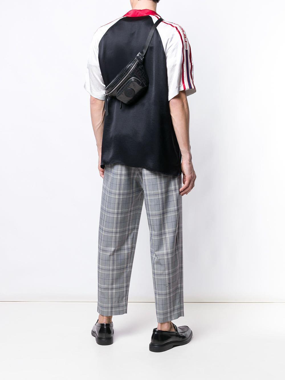 b2a4e0ef1b9 Lyst - Fendi Ff Belt Bag in Black for Men