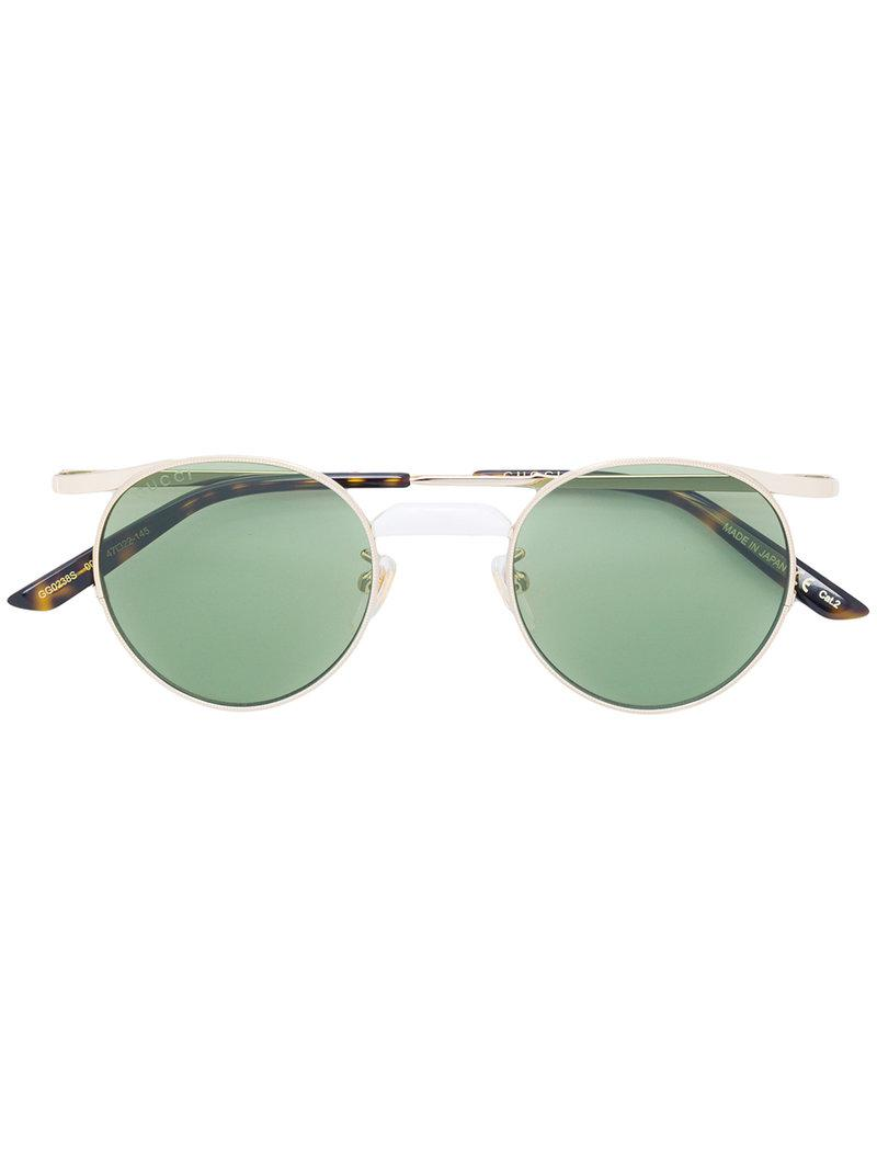 tinted round sunglasses - Metallic Gucci abZkSp