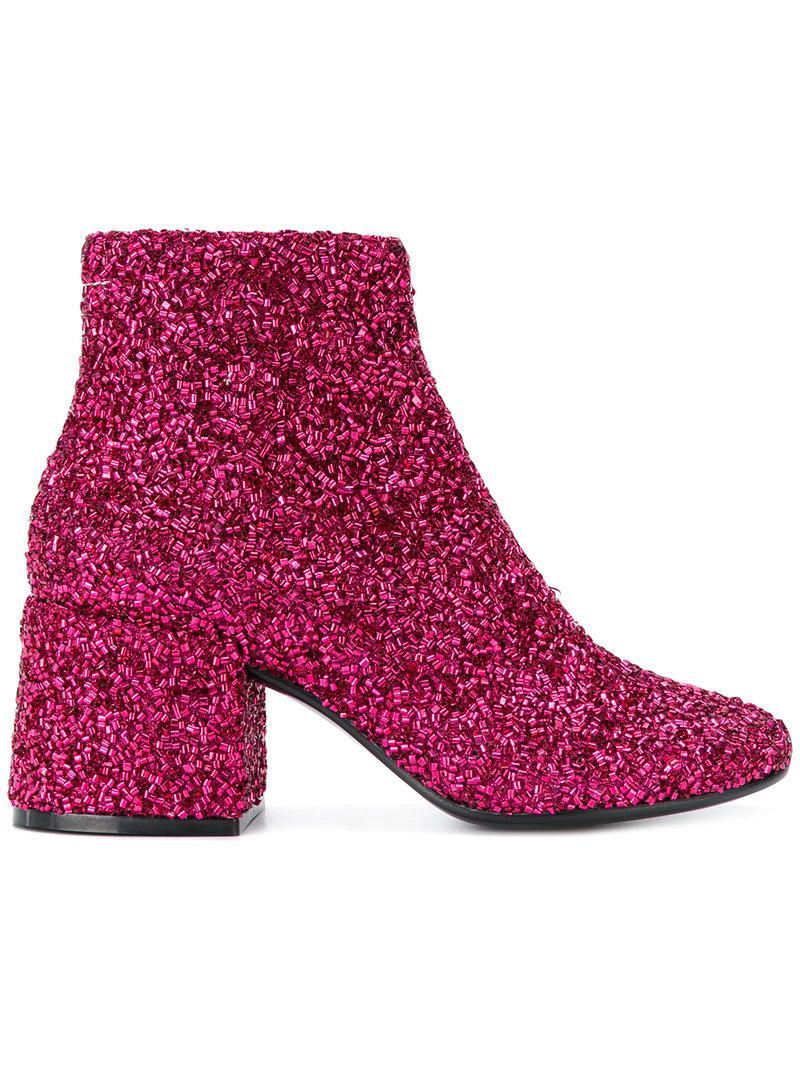 glitter ankle boots - Pink & Purple Maison Martin Margiela xGpE4