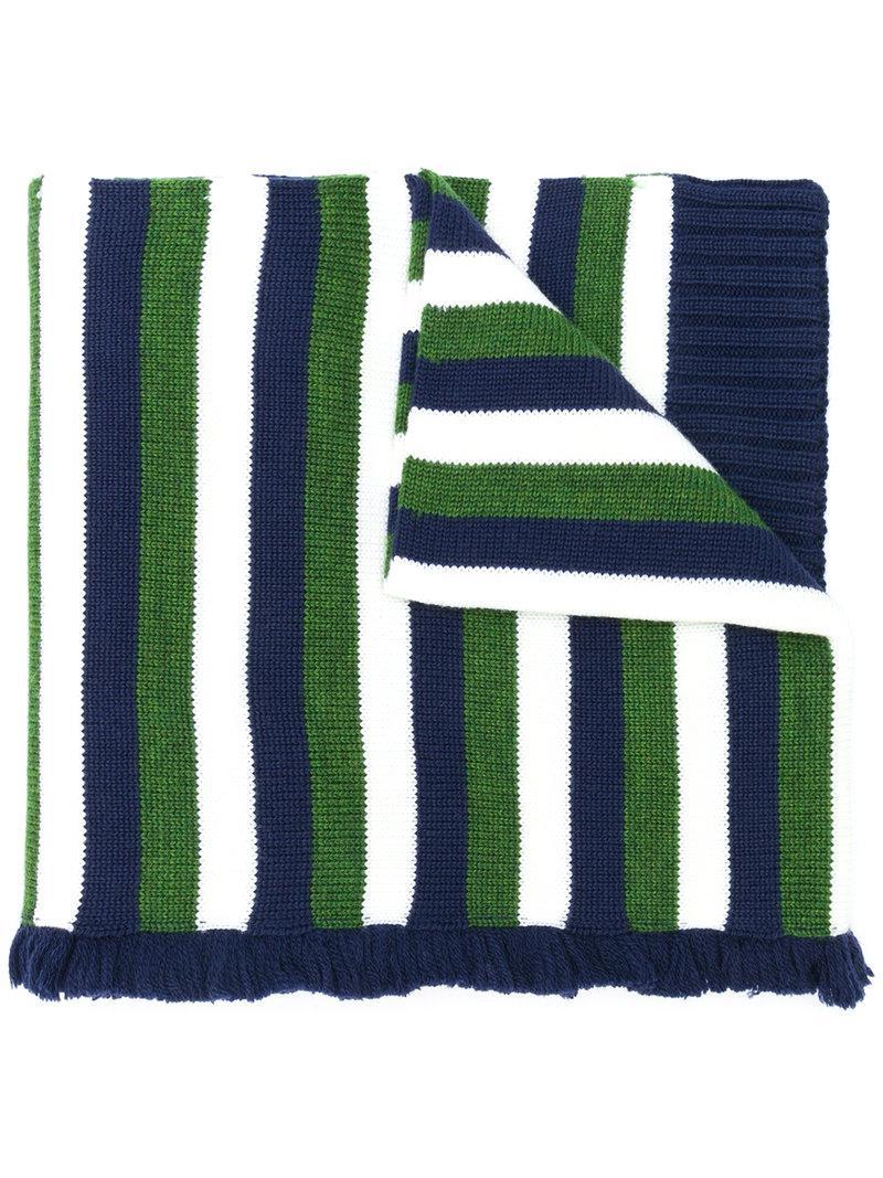 33602b4a89 Lyst - Sonia Rykiel Striped Scarf in Green