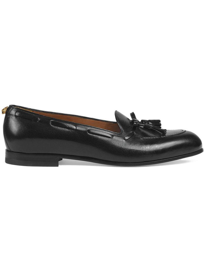 bac55c7a213 Lyst - Gucci Tassel Loafers in Black for Men