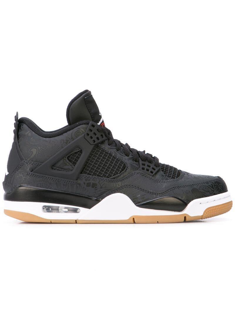 f6b144f94b98 Lyst - Nike Air Jordan 4 Retro Sneakers in Black for Men - Save 15%