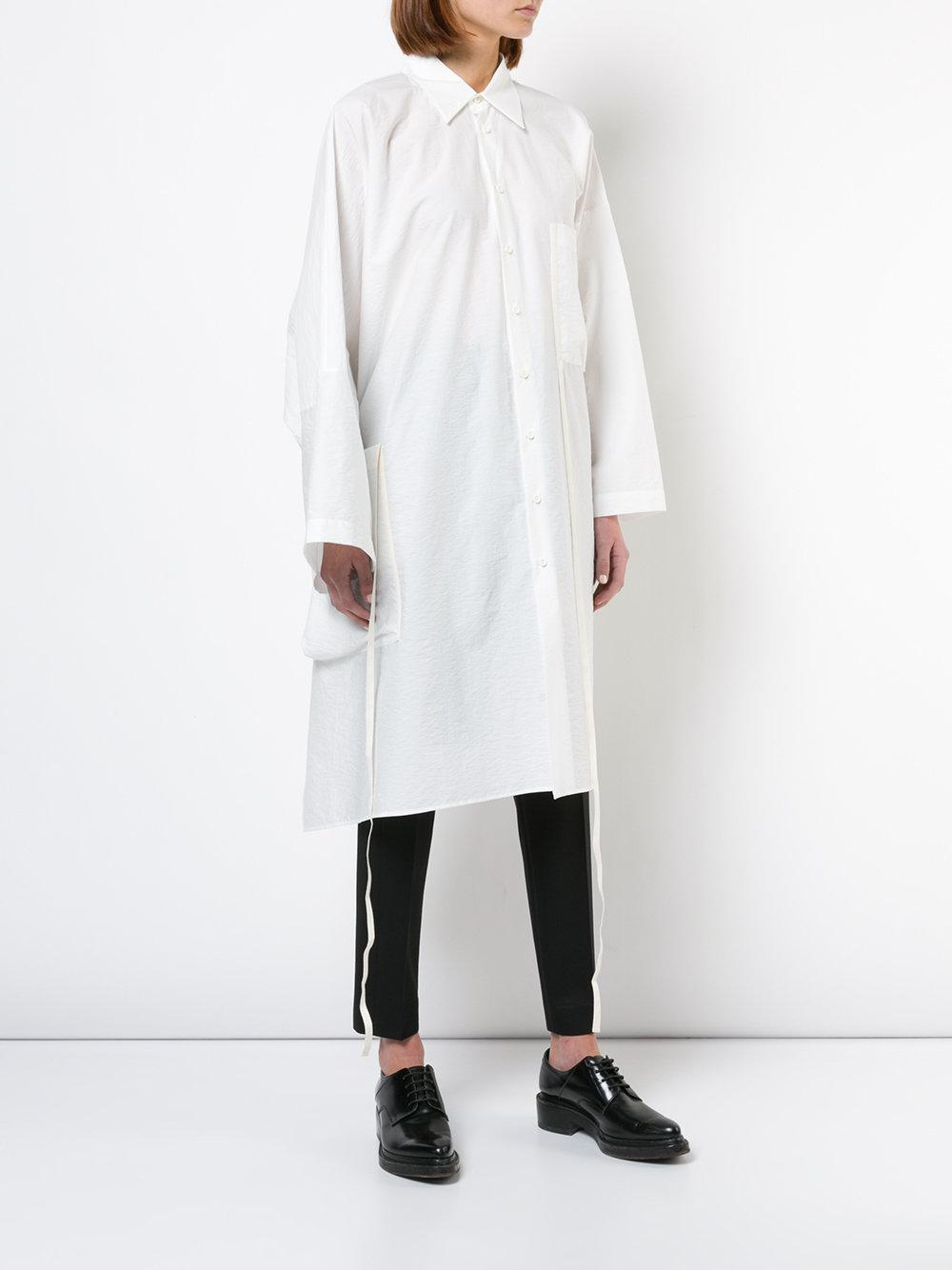 Outlet Great Deals Outlet Low Shipping Fee Uma Wang mid-length longsleeved shirt Get To Buy Cheap Price fHJUPw