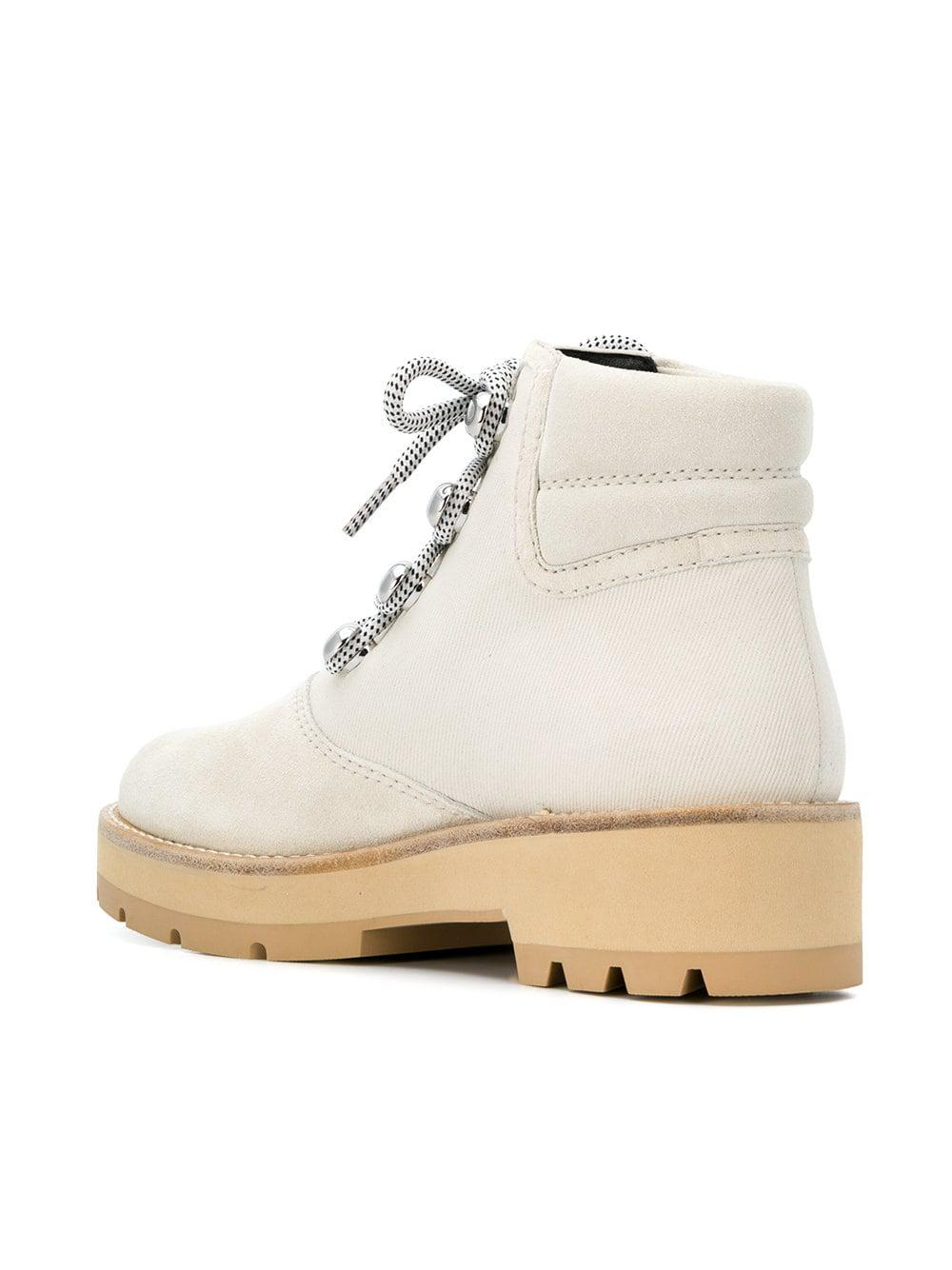 7c2f5989683d7 Lyst - 3.1 Phillip Lim Dylan Lace Up Boots in White