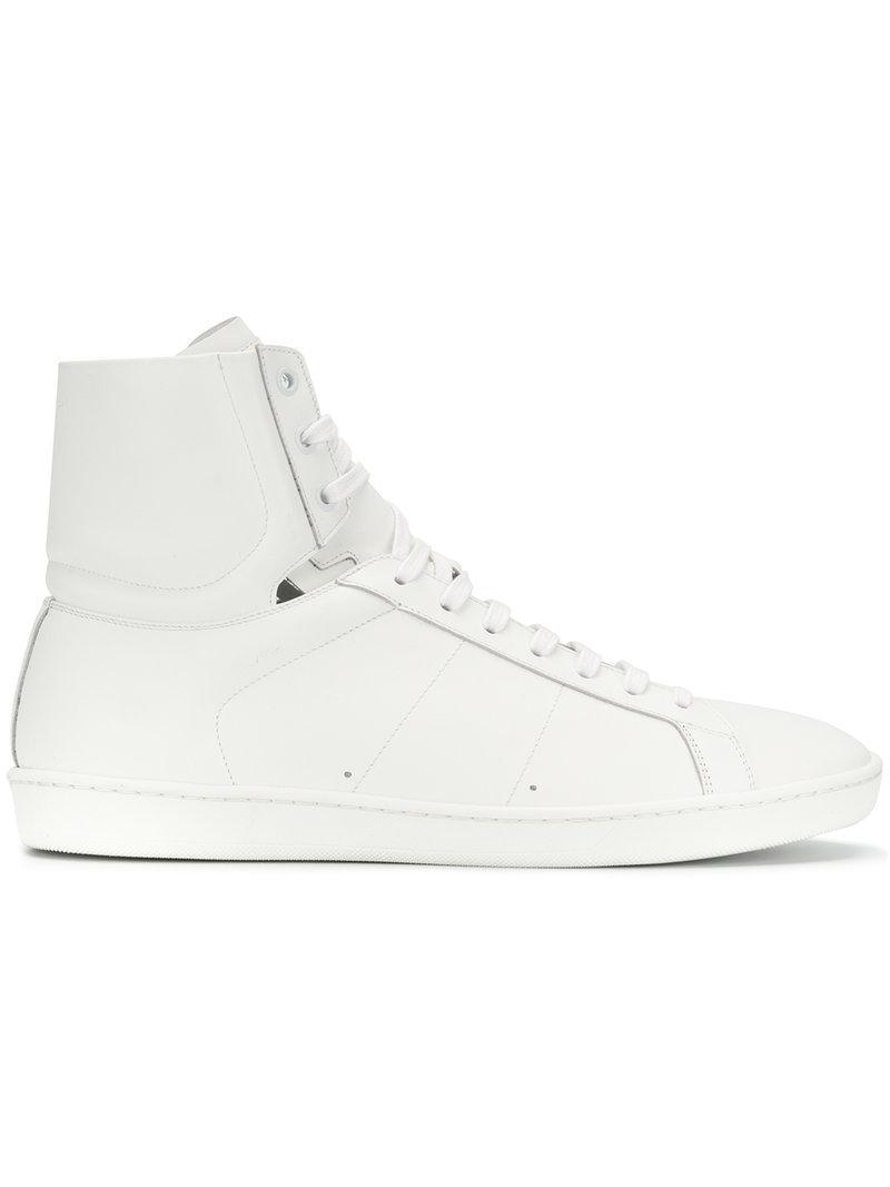 Saint Laurent White Miyata Sneakers CrM84LlP7g