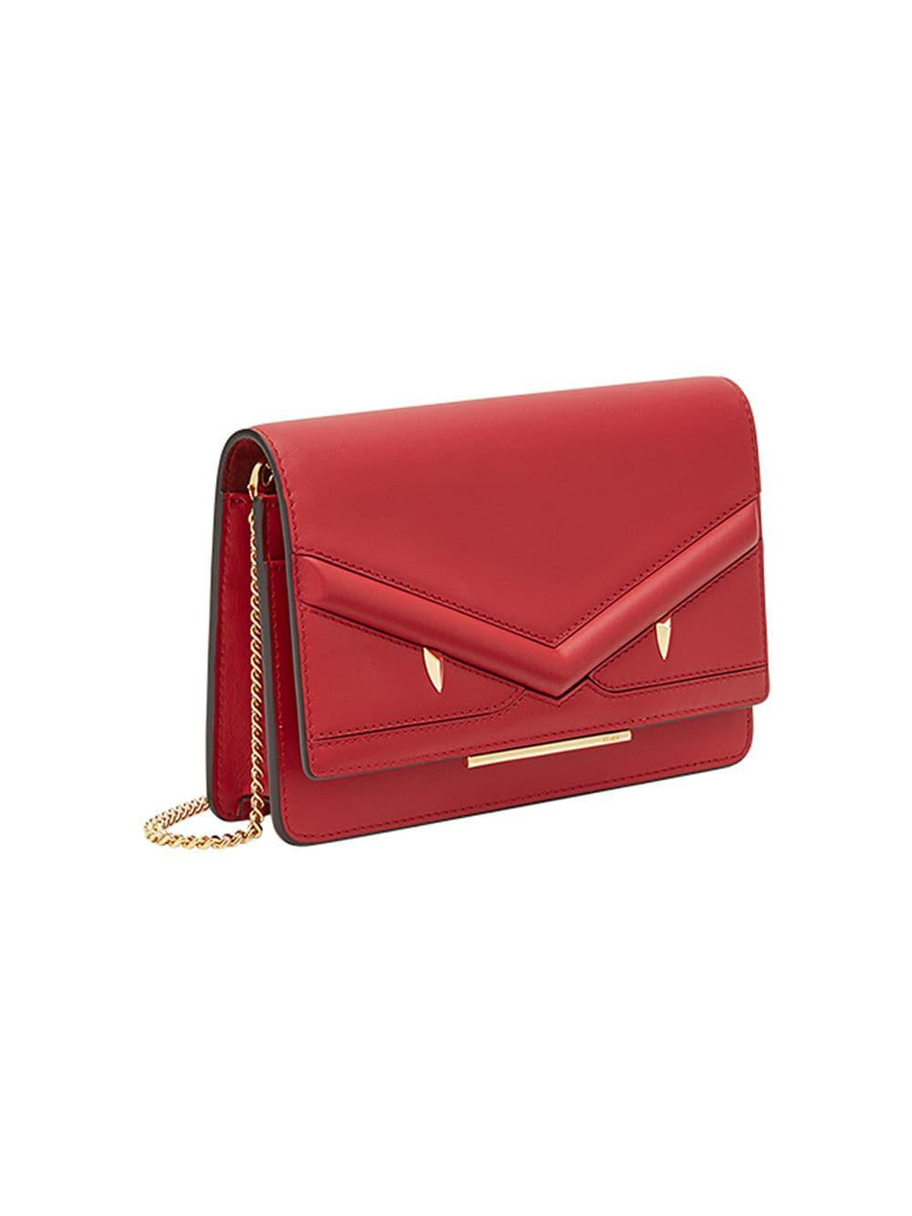 a289dc0f41c7 Lyst - Fendi Wallet On Chain Mini Bag in Red