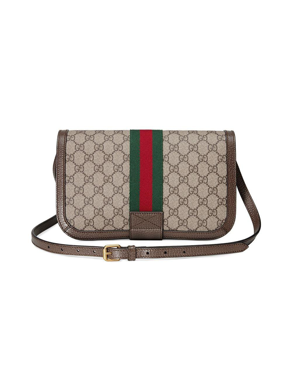 b20cd410ea2 Lyst - Gucci Ophidia GG Messenger Bag in Brown - Save 17%