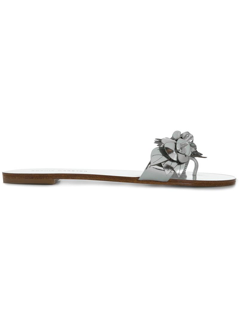 5955fedba927 Lyst - Sophia Webster Lilico Floral Appliqué Sandals in Metallic