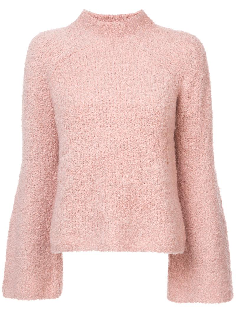 50a2f74065ed Ulla Johnson Amina Turtle Neck Jumper in Pink - Lyst