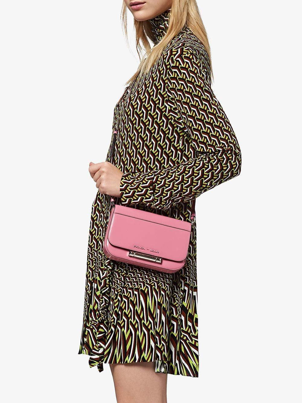 30f6f000d33d Prada - Pink Sybille Leather Shoulder Bag - Lyst. View fullscreen