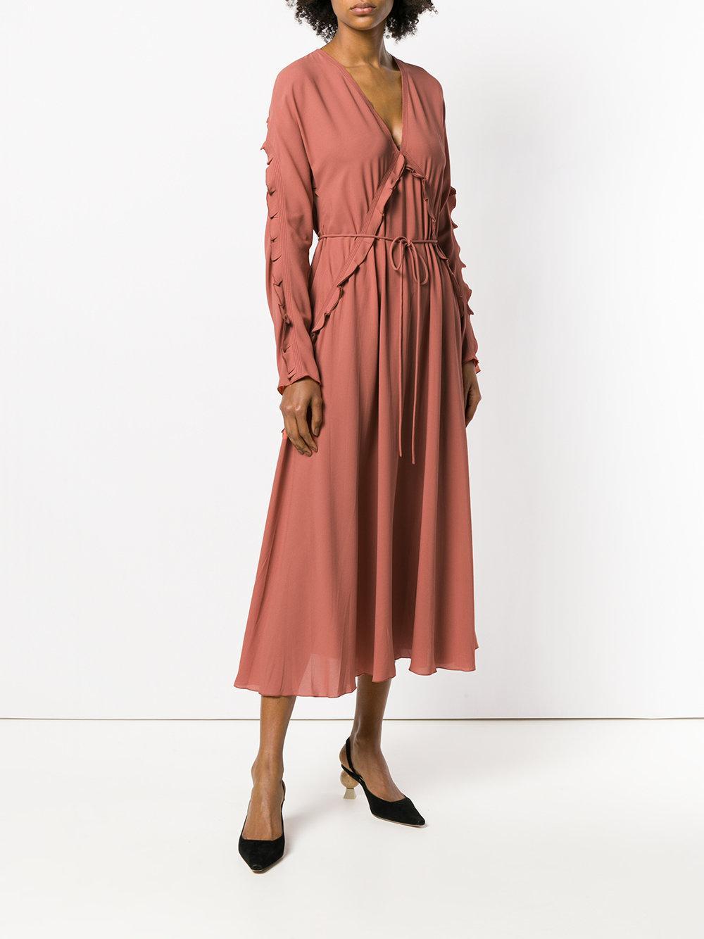 ruffle front dress - Yellow & Orange Bottega Veneta Explore Cheap Online Excellent lnlcoKTADH