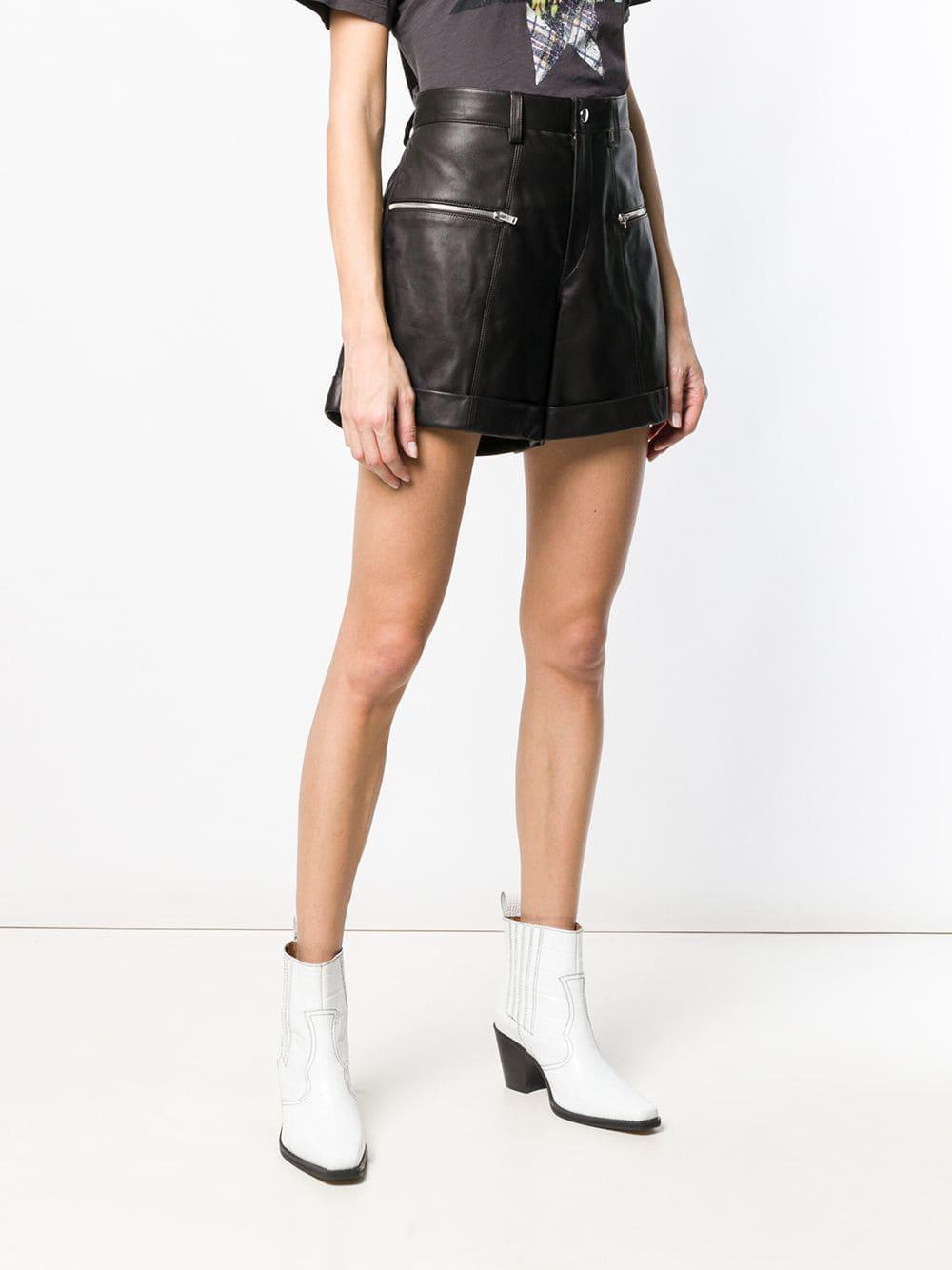 2f4883cf26 Isabel Marant - Black High Waist Shorts - Lyst. View fullscreen