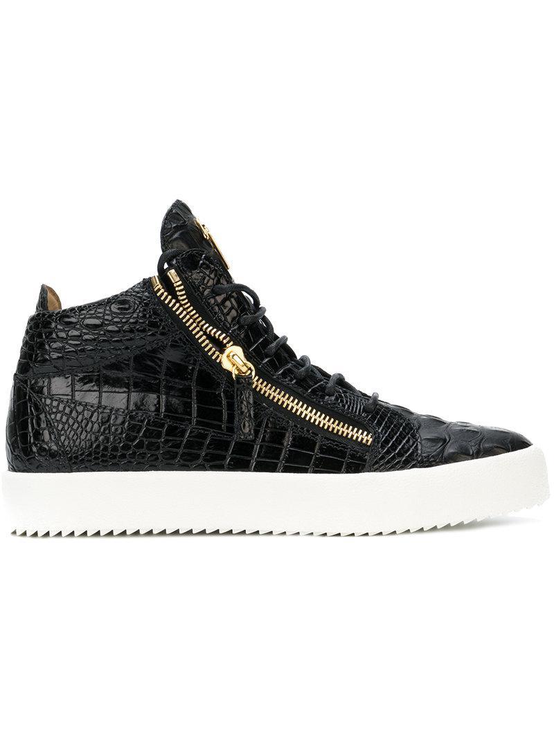 Giuseppe ZanottiCrocodile-embossed sneaker KRISS 2WNGvs2F9