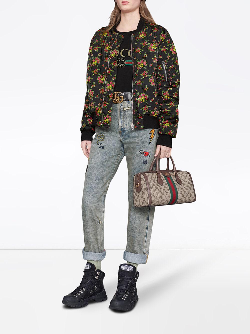 dac99e3ee75 Gucci Symbol Denim Jeans in Blue - Lyst