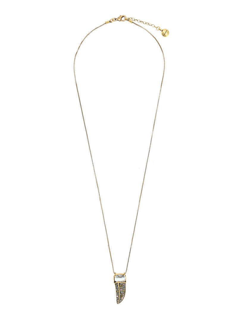 Camila Klein Longo Strass necklace - Metallic 6yIHQigoLW